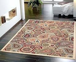 8 x paisley area rug red light aqua blue chocolate brown gold carpet decor