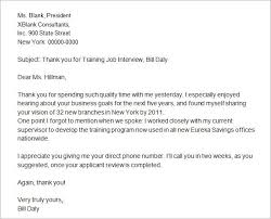 thank you letter after job interview 15 free documents thank you interview letters template 1