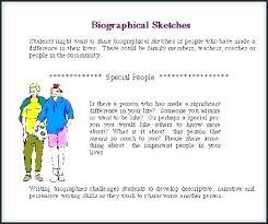 Short How To Write A Simple Biography Bio Template Example Original
