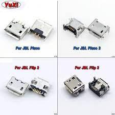 Yuxi 2 adet JBL FLIP 3 2 darbe 2 Bluetooth hoparlör mikro USB jakı Dock  şarj portu şarj bağlayıcı priz onarım parçaları Connectors