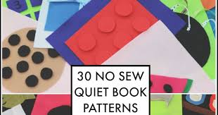 Quiet Book Patterns Simple The 48 Day No Sew Quiet Book And Next Comes L