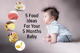5 Month Old Baby Solid Food Chart Top 5 Food Ideas For Your 5 Months Baby Geburtszeit Com