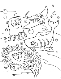 Small Picture Blue Shark coloring page Animals Town animals color sheet