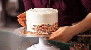 How To Decorate A Cake With Sprinkles Cake Decorating Youtube