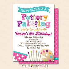 Pottery Painting Party Invitation White Kids Art Pottery Painting Birthday Party Invite Printable Instant Download Editable Pdf