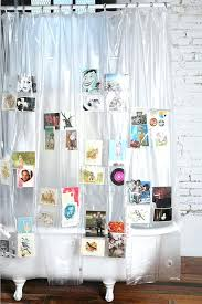 clear shower curtain with design pockets shower curtain clear vinyl shower curtains designs