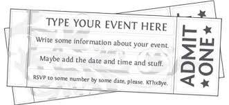Free Printable Event Ticket Templates Free Printable Event Ticket Templates Free Printables Online 2