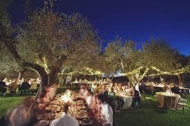 wedding illumination with fairy lights