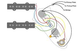 jazz bass wiring diagram request volume dpdt tone com own respective ground points on the the grounding plates and the bridge ground