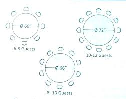 round table size for 8 round dining table size round table for 8 persons size 8 round table size