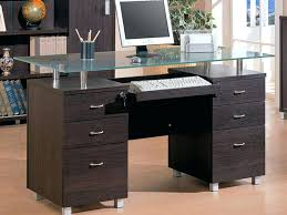 glass top desk with drawers endearing glass desk with drawers in bedroom amazing glass top office glass top desk with drawers