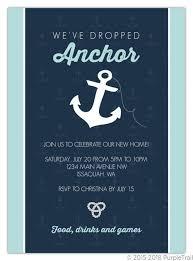 Navy Nautical Anchor Housewarming Invitation
