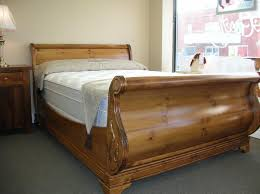 Wood King Size Sleigh Bed Frame