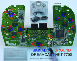 joystick controller pcb and wiring dreamcast hkt 7700 lags