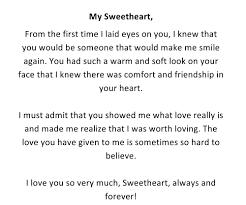romantic love letters for him love