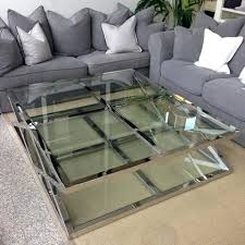 stainless steel coffee table glass cross steel coffee table large modrest cage modern stainless steel round