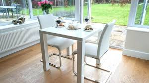 white round table. Small White Dining Set Gloss Table And Cantilever Chairs Kitchen Sets Washed Oak Round