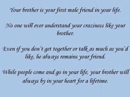Inspirational Quotes For My Brother. QuotesGram via Relatably.com