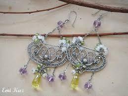 royal batik hoop earrings tutorial