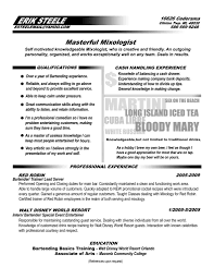 Perfect Bartender Resume Club Bartender Resume Sample Examples Perfect Resumes Yun24 Co 11