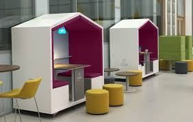 office pods. Unused Space-Utilizing Office Pods