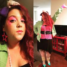 finally my truly outrageous decidedly non canon totally 80s jem costume i might have to start wearing my makeup like this
