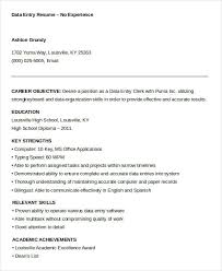 Data Entry Resume Template Awesome 28 Data Entry Resume Templates PDF DOC Free Premium Templates