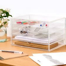 muji acrylic case 5 drawers