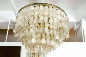 capiz shell chandelier ideas home tutorial