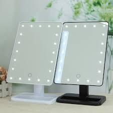 led makeup mirror wide view tools illuminated make up cosmetic bathroom shaving vanity mirrors