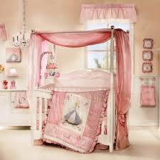 beautiful chandelier for baby in your nursery room beautiful canopy crib and pink bedding inside