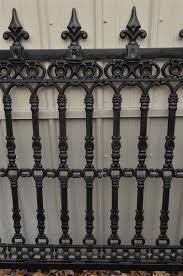 wrought iron fence victorian. Victorian Style Cast Iron Fence Section, Fleur De Lis Finials, 78.5\ Wrought Iron Fence Victorian N