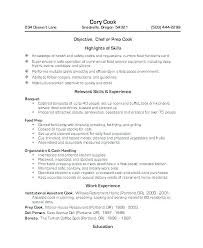 Examples Of Resumes For Restaurant Jobs Unique Resume Objective Examples For Cooks Line Cook Example Of Resumes