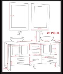 cambridge 71 inch white glass double sink vanity