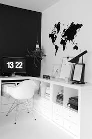 black and white office decor. Beautiful Black And White Office Space! Chalkboard Wall In The Background Would Be Fun Too! Palette. Decor