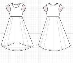 High Low Skirt Pattern Custom High Low Skater Dress Pattern