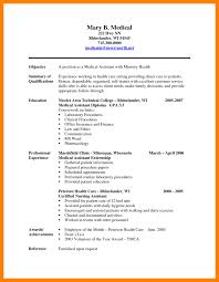 Resume Medical Assistant Badak Sample For Picture Examples
