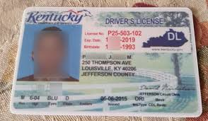 Template Kentucky Id Fake Fake Kentucky