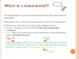 the process of paragraph writing ppt what is a paragraph a paragraph is a group of sentences about the same topic or