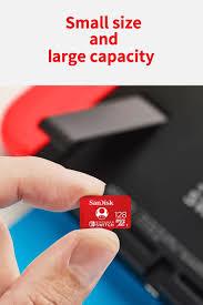 SanDisk Thẻ Micro SD Kiểu Mới 128GB 64GB 256GB Thẻ Nhớ Micro SDXC UHS-I Cho Nintendo  Switch Thẻ TF Với Bộ Chuyển Đổi
