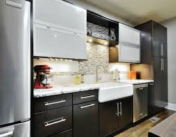 appealing black wooden color merillat kitchen cabinets come with white marble countertops and white smlfimage source