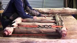 Log Bedroom Furniture Rustic Log Bed Littlebranch Farm Youtube