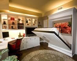 Compact apartment furniture Studio Elegant Compact Apartment Furniture Ideas With White Desk And White Hidden Bed Interior Aura Compact Apartment Furniture Design Inspirations Interior Aura