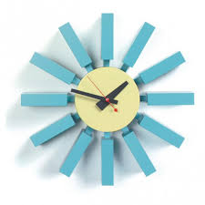 george nelson-type blue block clock clocks - NJModern Furniture- and I can  afford this clock.