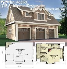 garages with apartments floor plans. plan 14631rk 3 car garage apartment with class ideas garages apartments floor plans