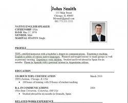 Us Resume Format Resume Templates