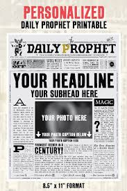 Custom Newspaper Template Custom Daily Prophet Front Page Printable Pdf Potter Save The Date