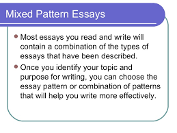 elements of an effective essay  paragraph 37 mixed pattern essays