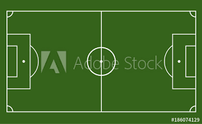 soccer field templates green field with soccer games strategy football field or soccer