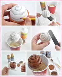 How to make Styrofoam ball into chocolate cupcake
